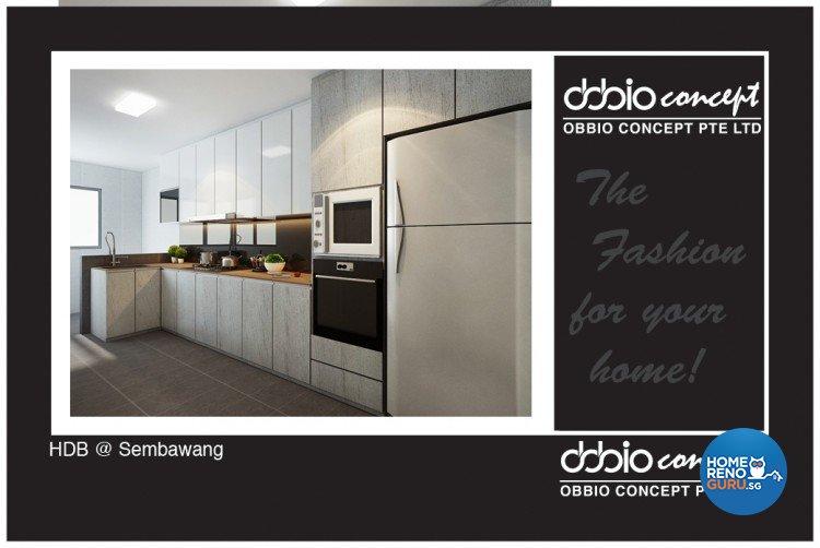 Contemporary, Minimalist, Scandinavian Design - Kitchen - HDB 4 Room - Design by obbio concept pte ltd