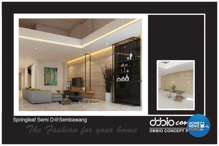Contemporary, Scandinavian Design - Living Room - Landed House - Design by obbio concept pte ltd