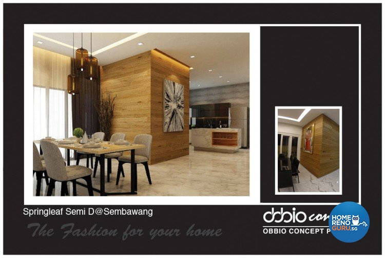 Contemporary, Scandinavian Design - Dining Room - Landed House - Design by obbio concept pte ltd