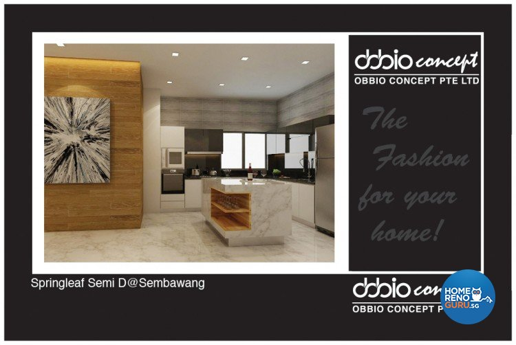 Contemporary, Scandinavian Design - Kitchen - Landed House - Design by obbio concept pte ltd