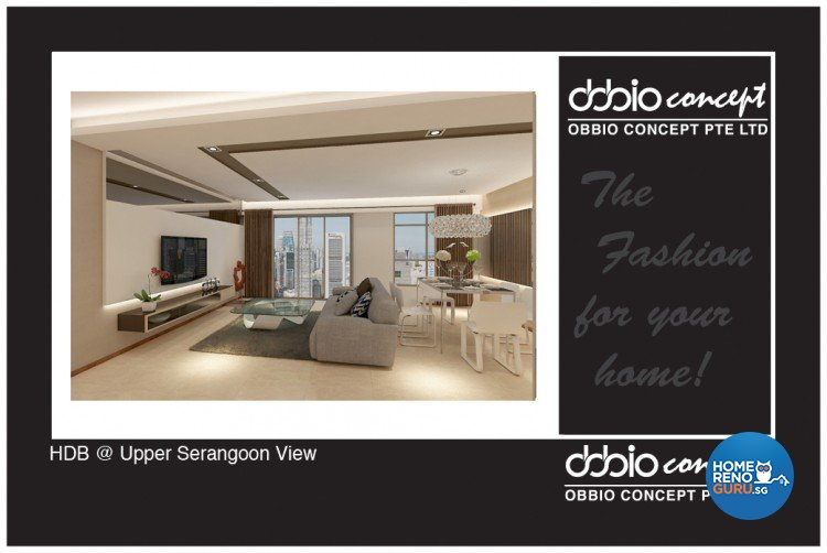 Contemporary, Minimalist, Scandinavian Design - Living Room - HDB 4 Room - Design by obbio concept pte ltd