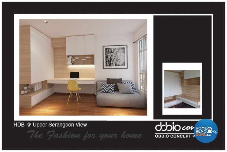 Contemporary, Minimalist, Scandinavian Design - Study Room - HDB 4 Room - Design by obbio concept pte ltd
