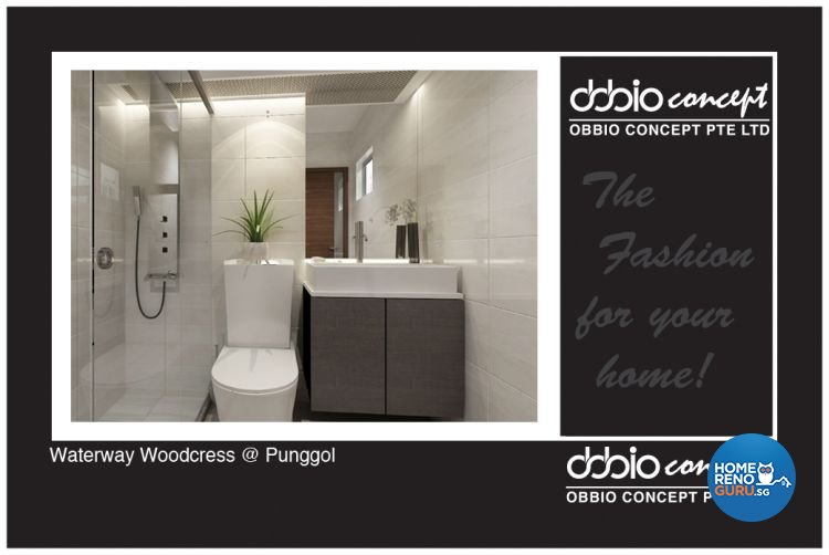 Contemporary, Modern Design - Bathroom - HDB 4 Room - Design by obbio concept pte ltd