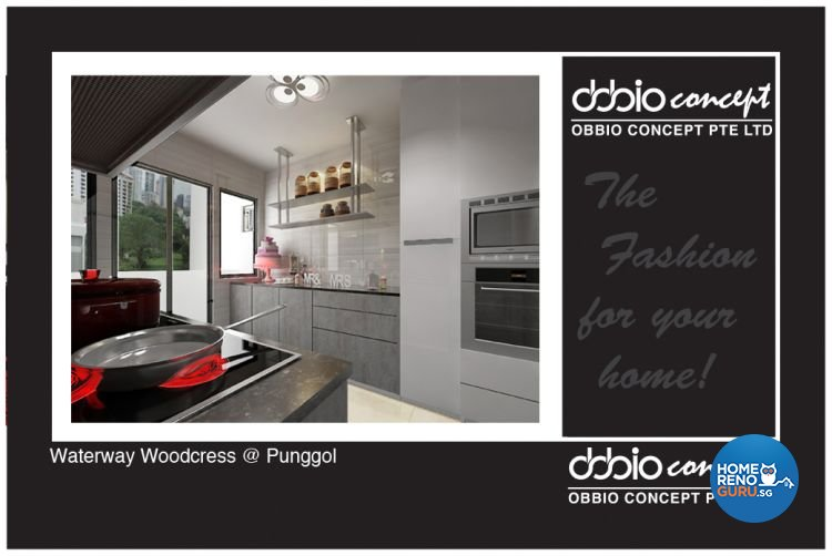 Contemporary, Modern Design - Kitchen - HDB 4 Room - Design by obbio concept pte ltd