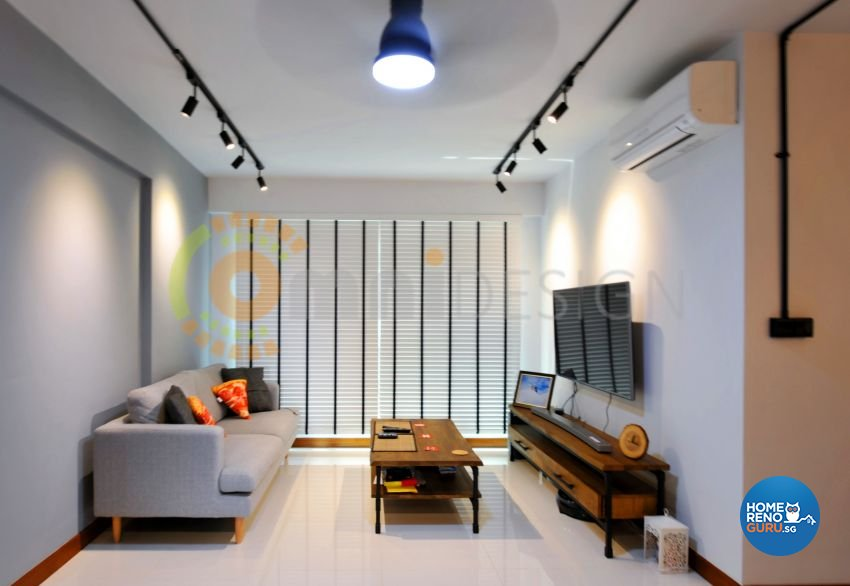 Scandinavian Design - Living Room - HDB 4 Room - Design by Omni Design Pte Ltd