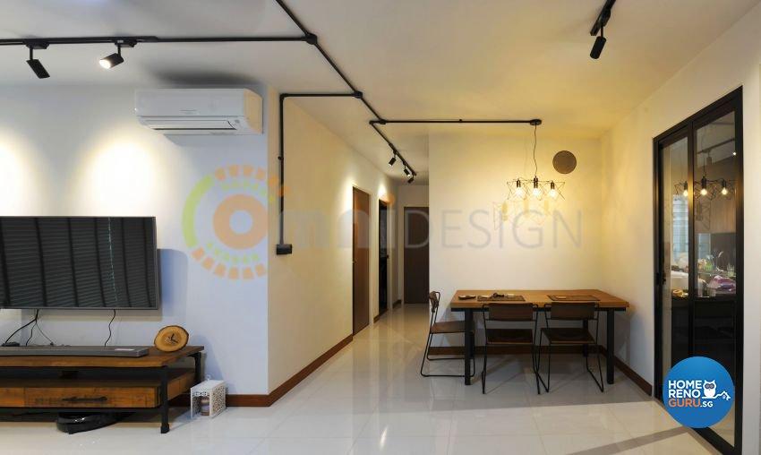 Scandinavian Design - Dining Room - HDB 4 Room - Design by Omni Design Pte Ltd