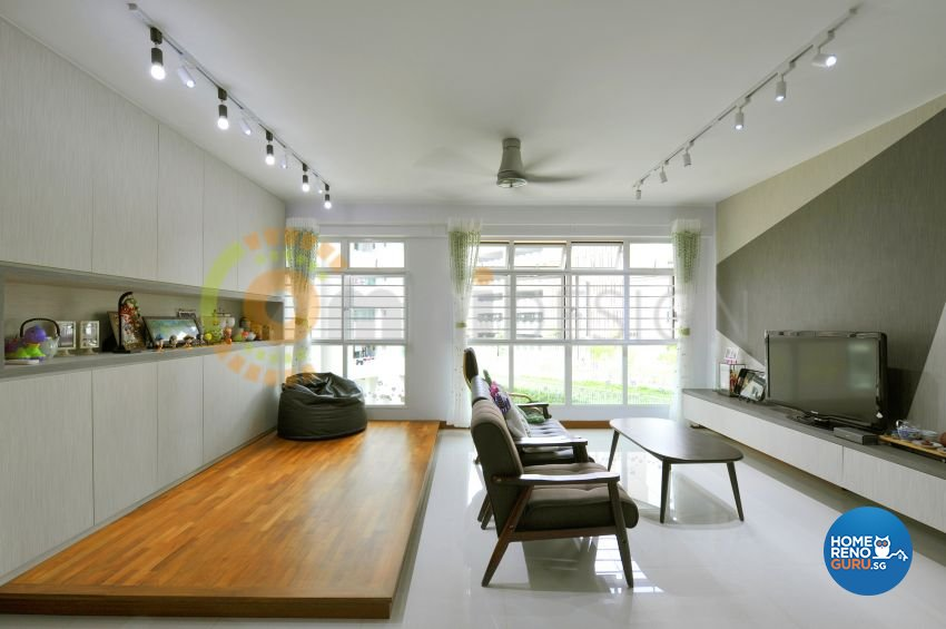 Contemporary Design - Living Room - HDB 5 Room - Design by Omni Design Pte Ltd