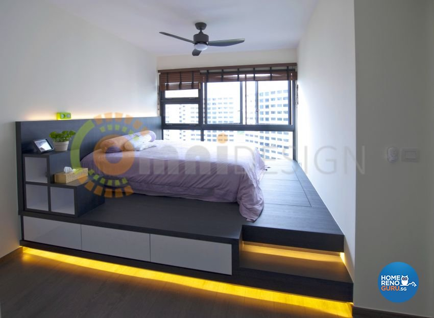 Contemporary Design - Bedroom - HDB 5 Room - Design by Omni Design Pte Ltd