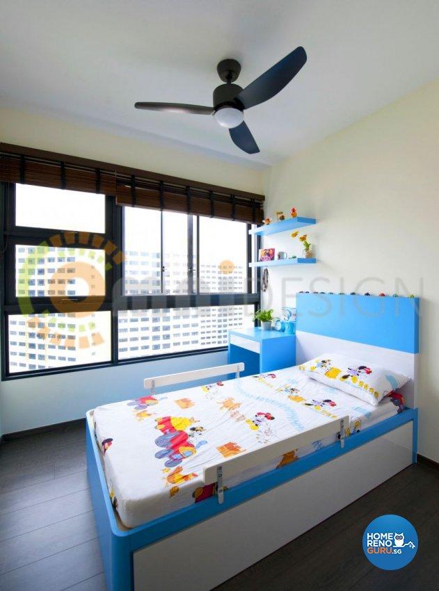 Contemporary Design - Bedroom - HDB 5 Room - Design by Omni Design Pte Ltd
