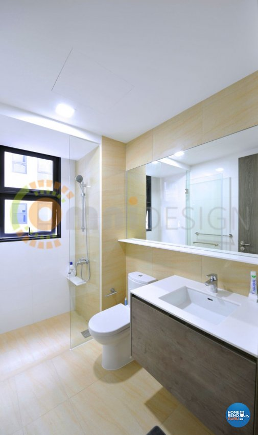 Contemporary Design - Bathroom - HDB 5 Room - Design by Omni Design Pte Ltd