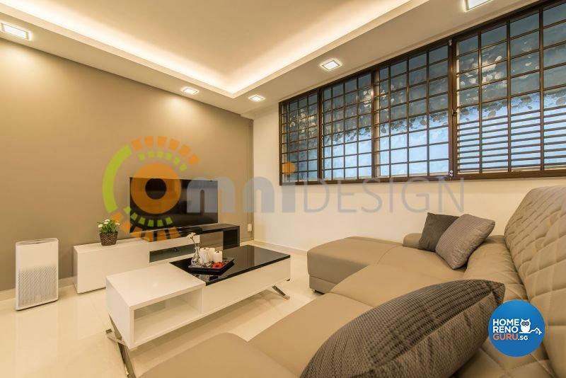 Contemporary, Modern Design - Living Room - HDB 4 Room - Design by Omni Design Pte Ltd