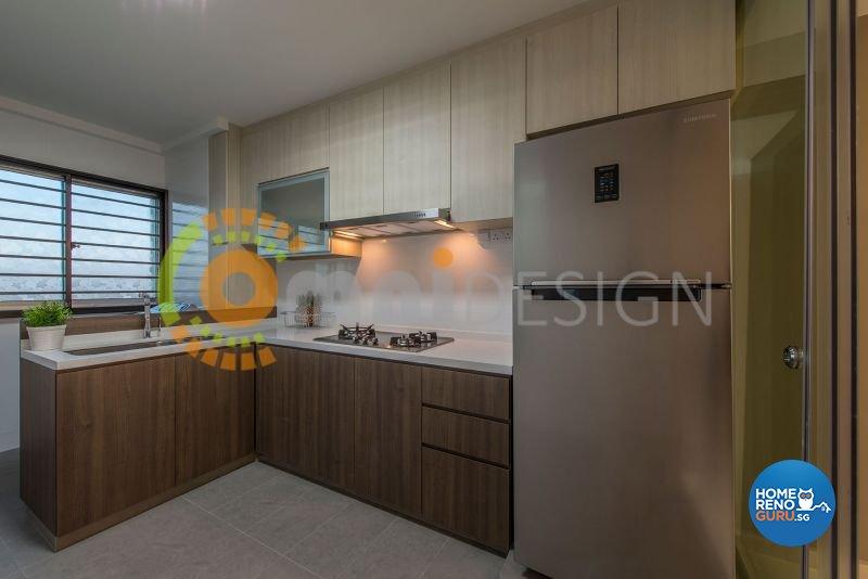 Contemporary, Modern Design - Kitchen - HDB 4 Room - Design by Omni Design Pte Ltd