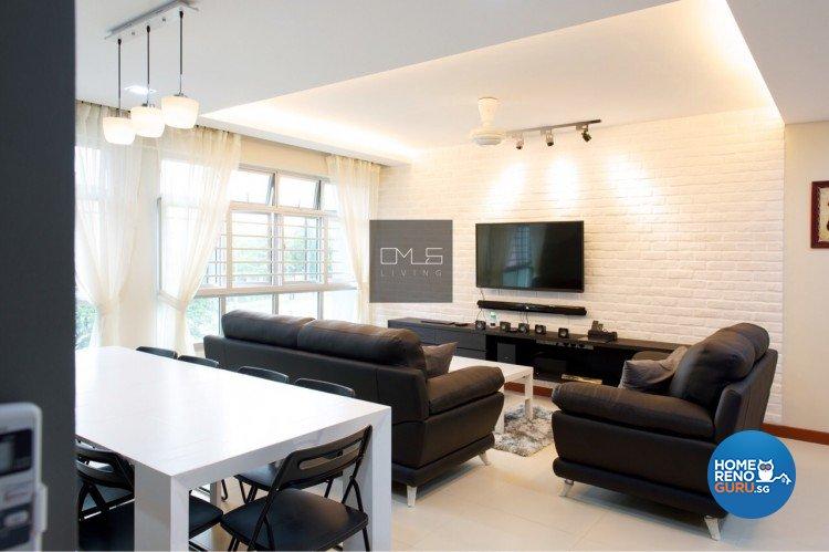 Country, Modern Design - Living Room - HDB 3 Room - Design by Omus Living
