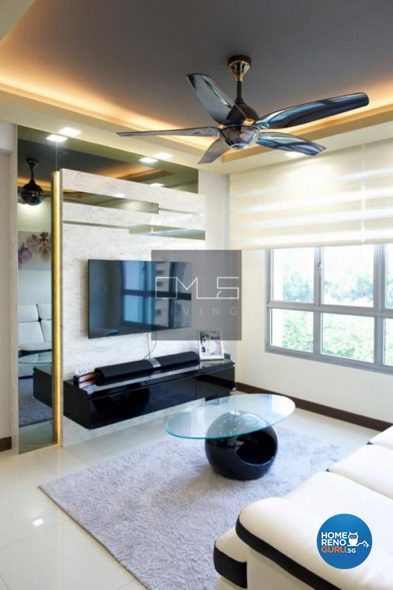 Contemporary, Modern Design - Living Room - HDB 4 Room - Design by Omus Living
