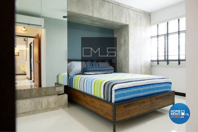 Industrial, Retro Design - Bedroom - HDB 4 Room - Design by Omus Living