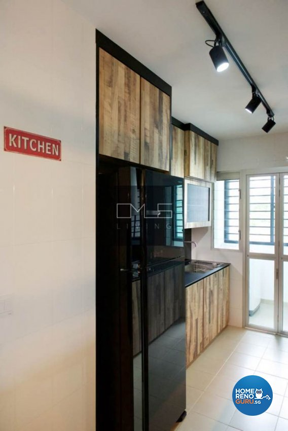 Industrial, Retro Design - Kitchen - HDB 4 Room - Design by Omus Living