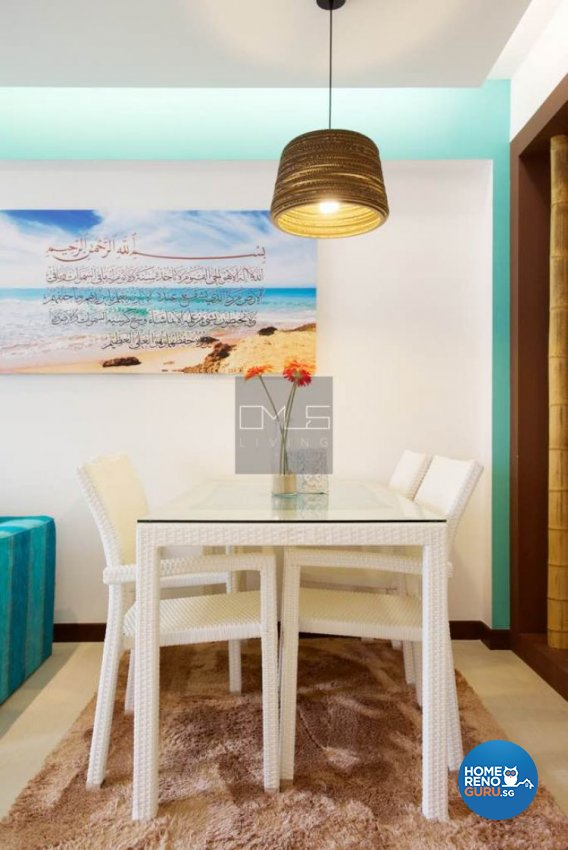 Contemporary, Mediterranean, Resort Design - Dining Room - HDB 4 Room - Design by Omus Living