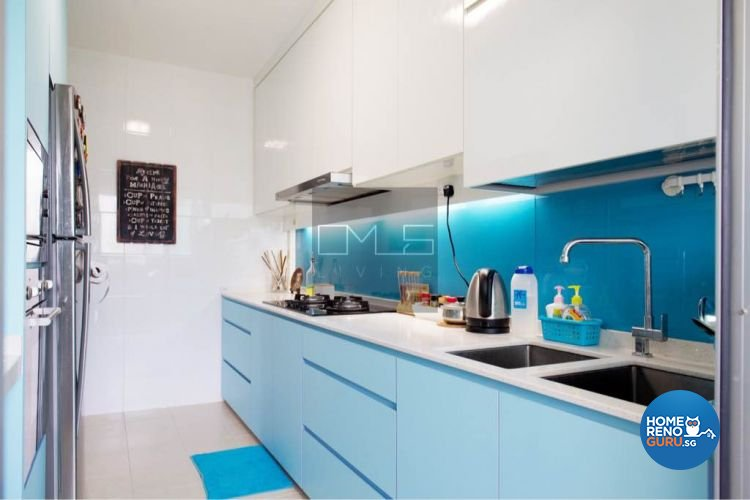 Contemporary, Mediterranean, Resort Design - Kitchen - HDB 4 Room - Design by Omus Living