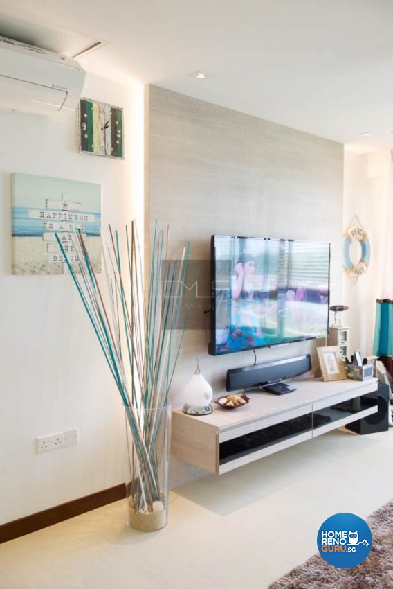 Contemporary, Mediterranean, Resort Design - Living Room - HDB 4 Room - Design by Omus Living