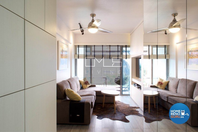 Contemporary, Minimalist, Scandinavian Design - Living Room - HDB 3 Room - Design by Omus Living