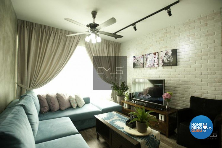 Country, Eclectic, Industrial Design - Living Room - HDB 4 Room - Design by Omus Living