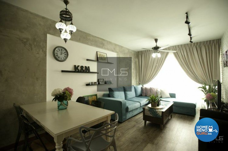 Country, Eclectic, Industrial Design - Dining Room - HDB 4 Room - Design by Omus Living