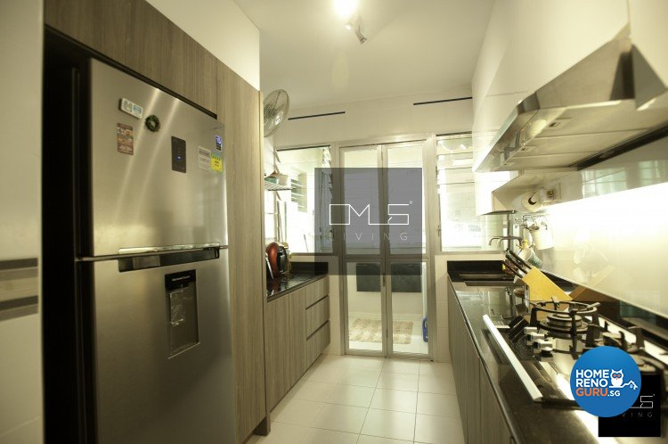 Country, Eclectic, Industrial Design - Kitchen - HDB 4 Room - Design by Omus Living