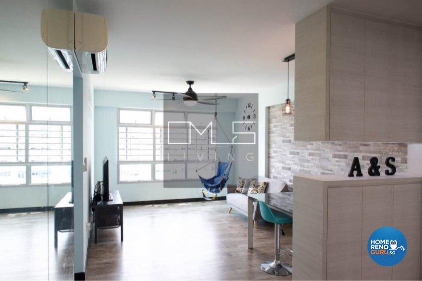 Contemporary, Modern Design - Living Room - HDB 4 Room - Design by Omus Living