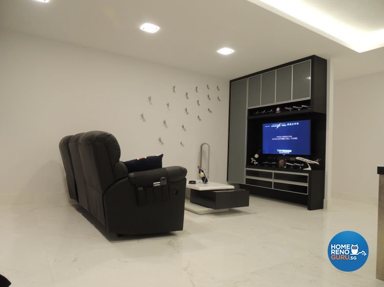 Contemporary, Minimalist Design - Living Room - HDB 5 Room - Design by Orient Reno