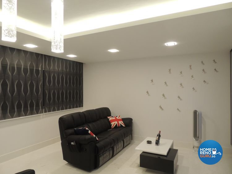 Contemporary, Minimalist Design - Living Room - HDB 5 Room - Design by Orient Reno