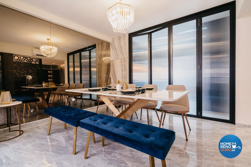 Classical Design - Dining Room - HDB 5 Room - Design by Ottotto Pte Ltd