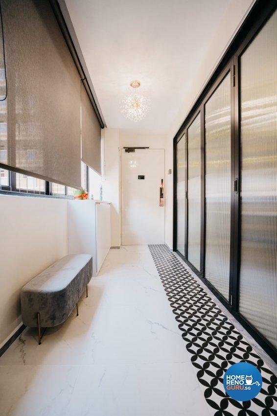 Classical Design - Balcony - HDB 5 Room - Design by Ottotto Pte Ltd