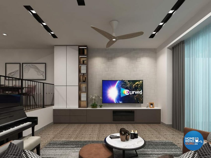 Classical Design - Living Room - Landed House - Design by Ottotto Pte Ltd