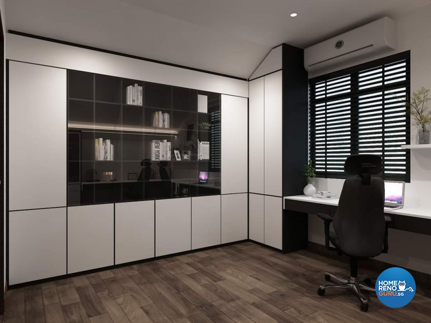 Classical Design - Study Room - Landed House - Design by Ottotto Pte Ltd