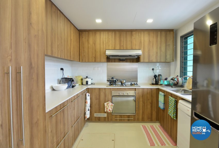 Resort Design - Kitchen - Landed House - Design by Palmwood Pte Ltd