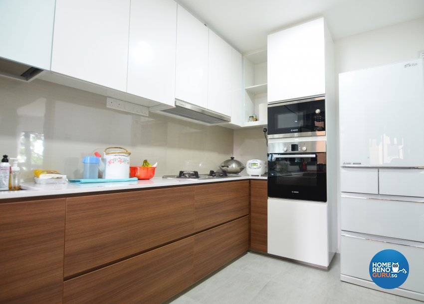Contemporary Design - Kitchen - Condominium - Design by Palmwood Pte Ltd