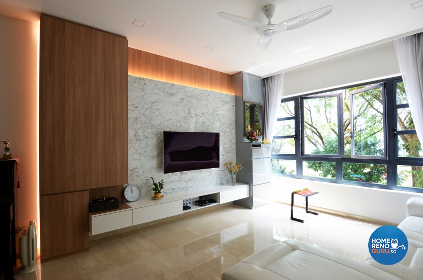 Contemporary Design - Living Room - Condominium - Design by Palmwood Pte Ltd