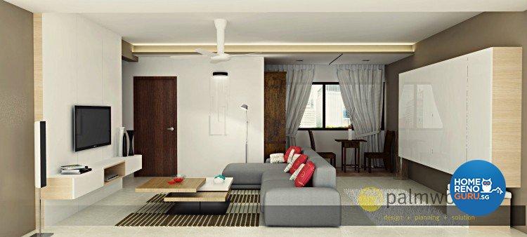 Contemporary, Minimalist, Scandinavian Design - Living Room - HDB 5 Room - Design by Palmwood Pte Ltd