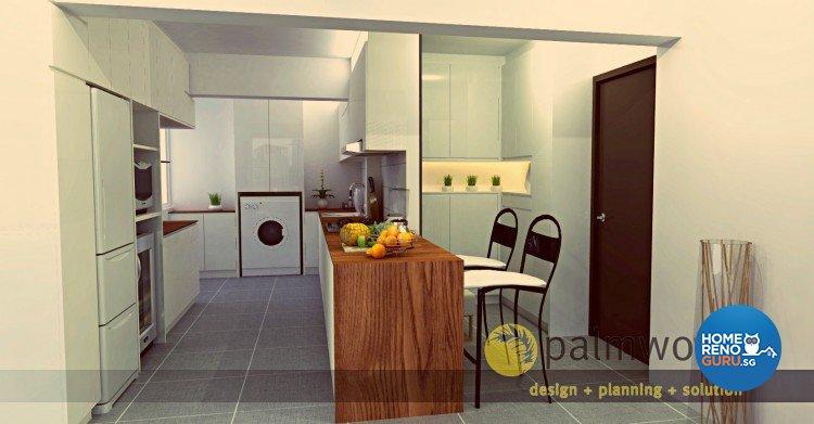 Contemporary, Minimalist, Scandinavian Design - Kitchen - HDB 5 Room - Design by Palmwood Pte Ltd