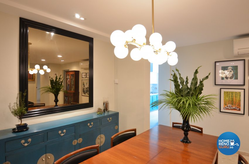 Contemporary Design - Dining Room - HDB 5 Room - Design by Palmwood Pte Ltd
