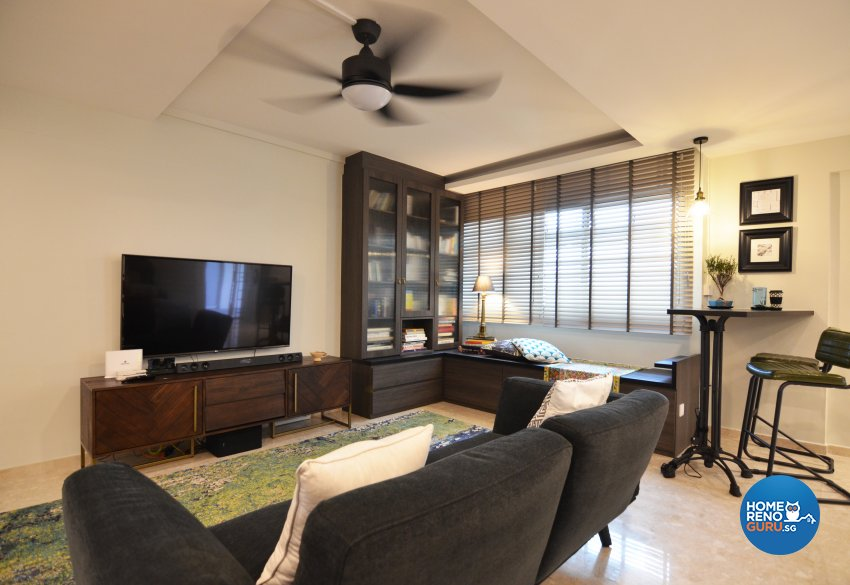 Contemporary Design - Living Room - HDB 5 Room - Design by Palmwood Pte Ltd