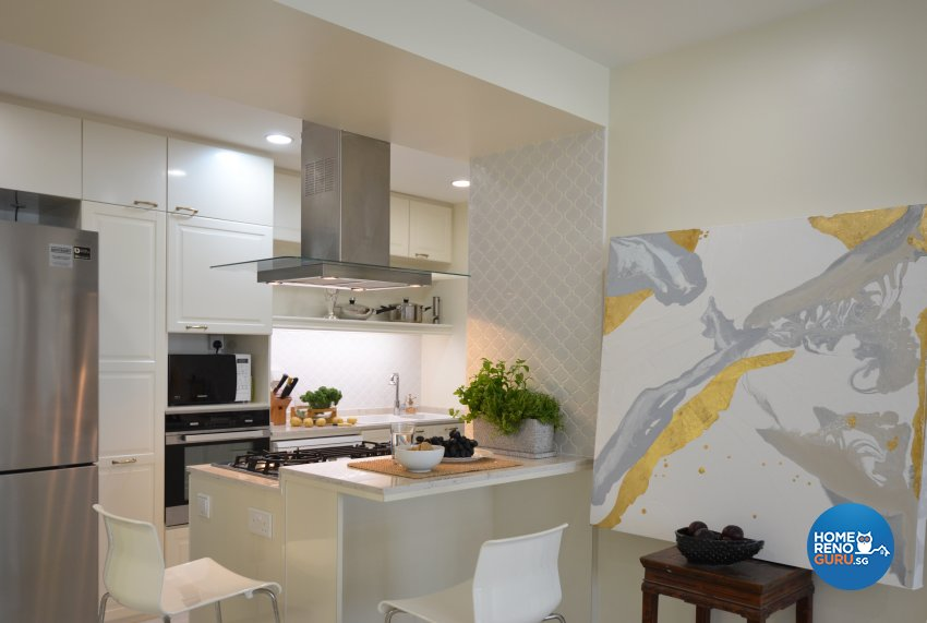 Contemporary Design - Kitchen - HDB 5 Room - Design by Palmwood Pte Ltd