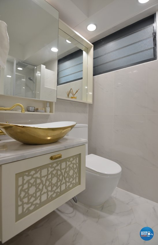 Contemporary Design - Bathroom - HDB 5 Room - Design by Palmwood Pte Ltd