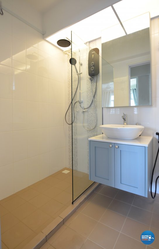 Mediterranean, Others Design - Bathroom - HDB 4 Room - Design by Palmwood Pte Ltd