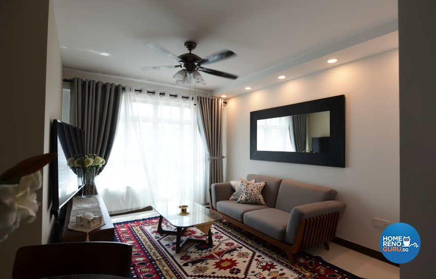 Mediterranean, Others Design - Living Room - HDB 4 Room - Design by Palmwood Pte Ltd