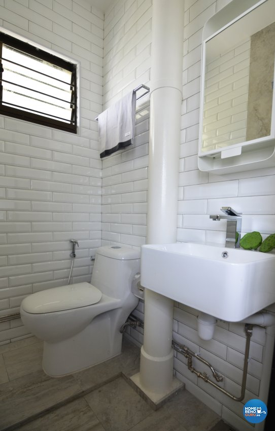 Minimalist Design - Bathroom - HDB 3 Room - Design by Palmwood Pte Ltd