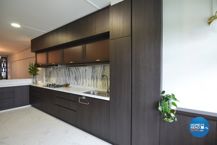 Minimalist Design - Kitchen - HDB 3 Room - Design by Palmwood Pte Ltd