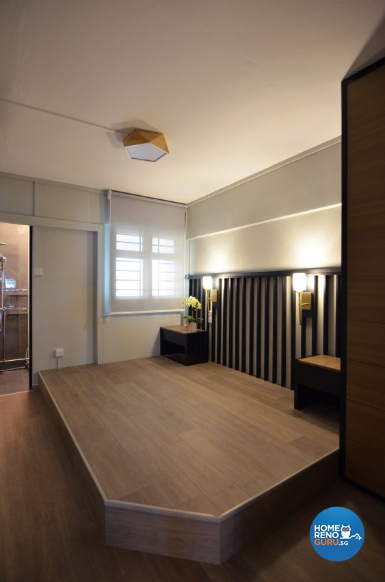 Minimalist Design - Bedroom - HDB 3 Room - Design by Palmwood Pte Ltd