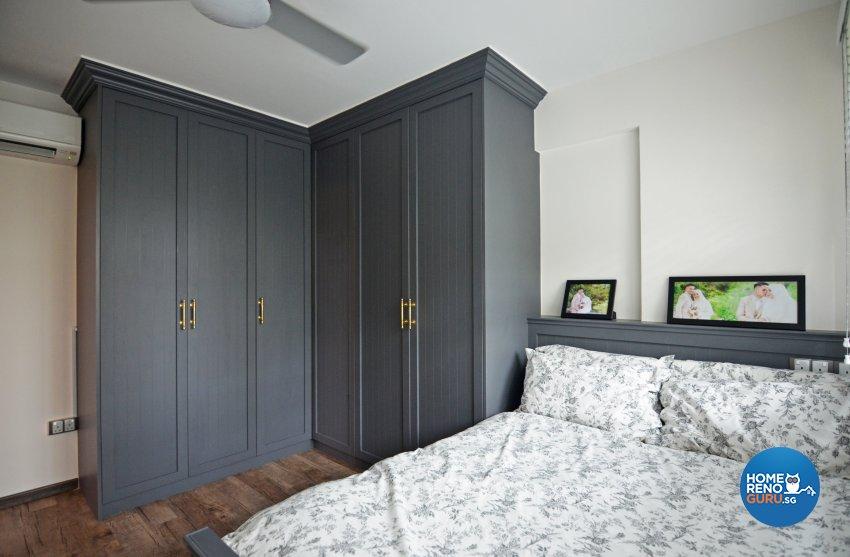 Country Design - Bedroom - HDB 4 Room - Design by Palmwood Pte Ltd