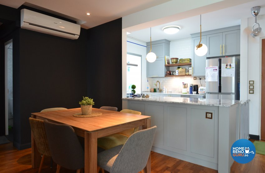 Contemporary Design - Dining Room - HDB 4 Room - Design by Palmwood Pte Ltd